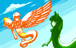 Davesprite and Jadesprite by Astronblackmoon