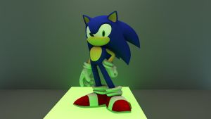 Sonic Cinema 4D render by M-Craft