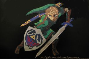 Paper Twilight Princess Link by zippybluedwarf