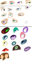 Eye sketches by kiki-kit