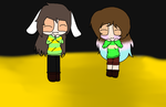 Me as Chara and Dreamer-ka as Asriel by CloudyPPG