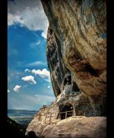 cave and sky by KYAV
