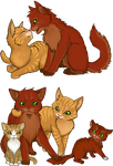 Firestar's Family by aThousandPaws