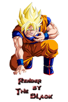 Dragon Ball Son Goku SSJ ht Render The Black by OneBill