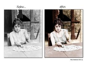 COLORIZE  theda bara by PollyWaiseburd