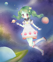 Outer space by Cheriin