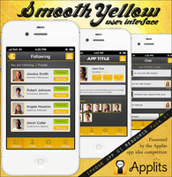 Free iPhone User Interface - Smooth Yellow by Applits