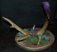 Crystal Encrusted Antler by Phoenix-Cry