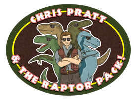 Chris Pratt and the Raptor Pack by MevrouwRoze