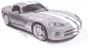 dodge viper gts by Nightwolf55