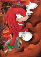 Knuckles the Echidna by DynamicFlamez