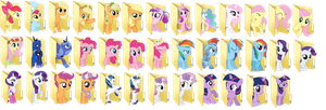mlp desktop and DA folders by 1999misscreator