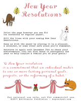 Cover sheet - New Years Resolutions Cats by beyourpet