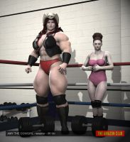 Amy the Cowgirl - female pro wrestler - 6ft 6in by theamazonclub