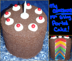 19th b'day Portal Cake by SuperSiriusXIII