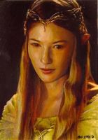 galadriel card 149 by charles-hall