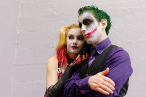 Paris manga 2014 - Harley andJoker by SuBWaReZ