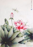 Chinese painting by handicc