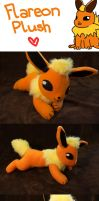 Flareon Plush by Luminous-Luchador