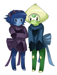 Peri and Lappy by colorfulkitten