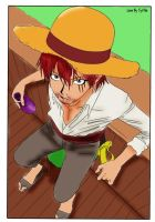 Shanks colored using Gimp by akatsuki-girl-krista