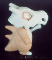 Cubone Sculpture Side View by LordDonovan