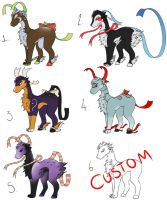 Ribbon Monster Adoptables -OPEN- by HeadSmashScrafty