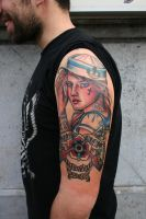 sailor girl by tattooneos