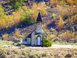 Little Old Church On The Prarie by wolfwings1