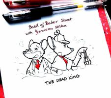 Basil crossover with Geronimo : The Dead King by doraemonbasil