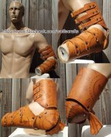 Chronos Gothic Arm full leather armour by rwolf1970