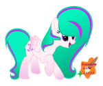 Art trade with Lily Pony MLP by RainbowGlow55555