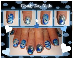 Cloudy Day Nails by Jessi9999