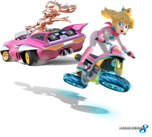 Mario Kart 8 - Princess Peach and Pink Gold Peach by Legend-tony980