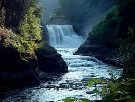 Letchworth State Park, a beautiful Waterfall. by sweatangel