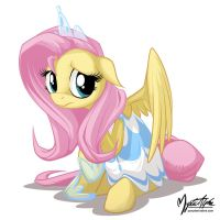 Fluttershy in a dress 4 by mysticalpha