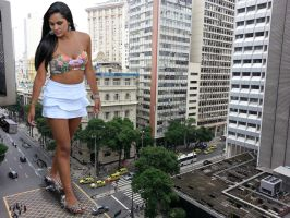 Yasmin walks the streets of downtown Sao Paulo by The-WonderSlug