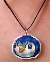 Piplup stitched necklace by starrley