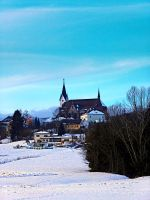 Village skyline in winter time by patrickjobst