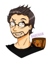 Markiplier and Tiny Box Tim by solcastle