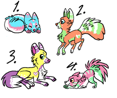 Dog Adoptables 1 :CLOSED: by DarkestAdopts
