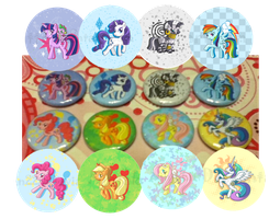 Pony buttons by NinjaKitten22