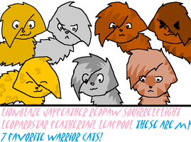 my 7 favorite warrior cats by Animallover08