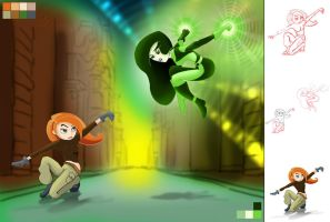 kim possible vs  shego by jakobdam d3am9q6 Mature Content Filter is On (Contains: sexual themes)