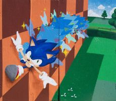Sonic Lost World Mural by Tri-Jean