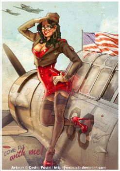 PLANE PIN-UP by J-Estacado