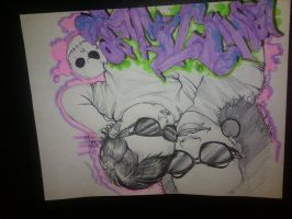 my graffiti black book art by theredmonster419