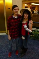 AWA 2012 Cosplayers - Marceline and Marshall Lee by LordNobleheart