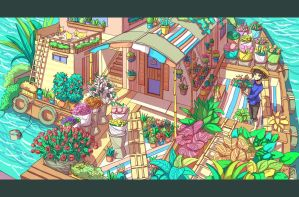 Flower Shop on The Water by Caring201