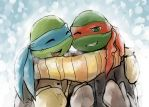 Leo and Raph by LeonS-7